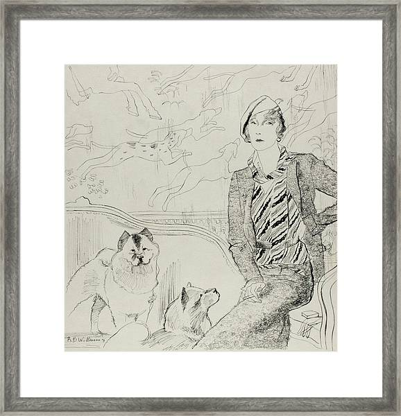Illustration Of Baronne Eugene De Rothschild Framed Print