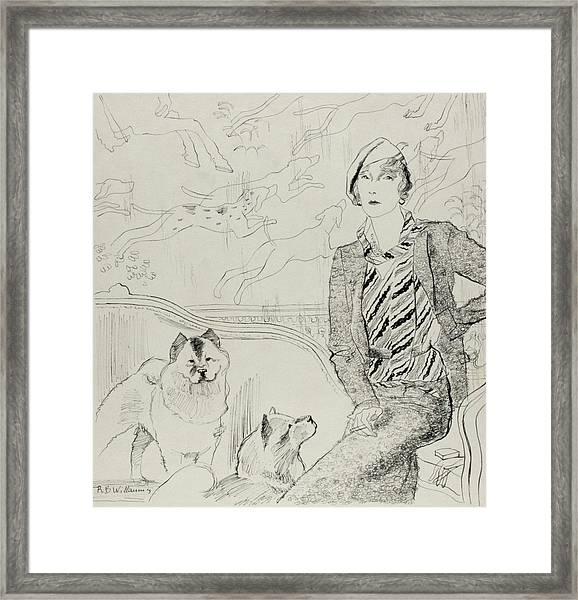 Illustration Of Baronne Eugene De Rothschild Framed Print by Rene Bouet-Willaumez