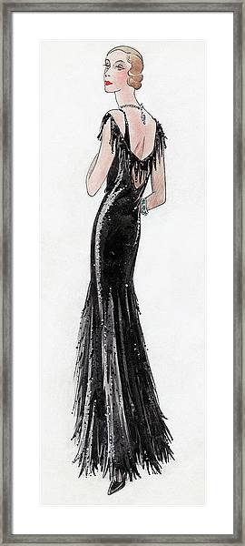Illustration Of Madame Paul Dubonnet At Deauville Framed Print
