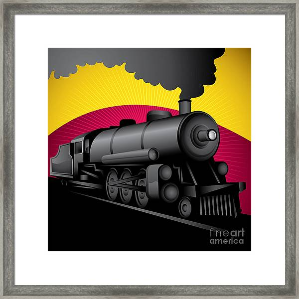 Illustration Of Old Stylized Framed Print
