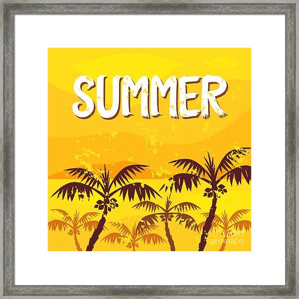 Illustration Summer Framed Print by Yaichatchai