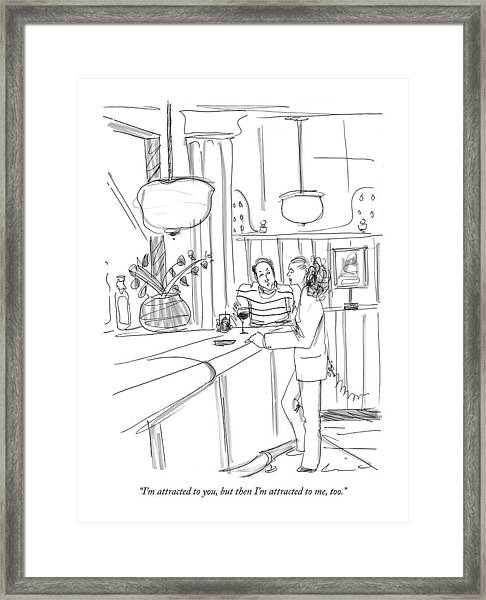 I'm Attracted Framed Print