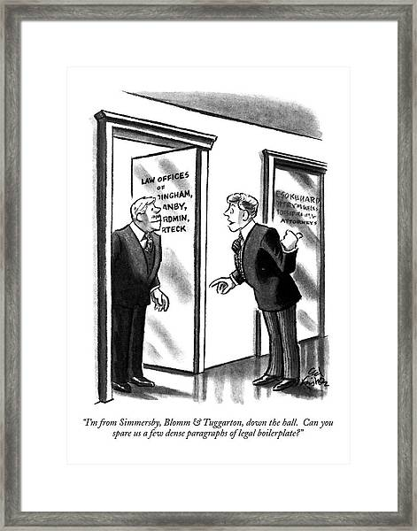 I'm From Simmersby Framed Print
