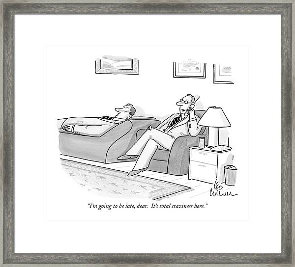 I'm Going To Be Late Framed Print