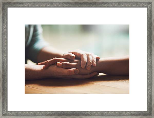 I'm Here For You Framed Print by PeopleImages