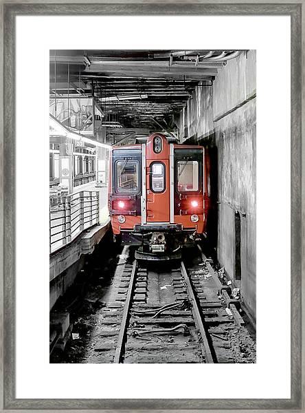 I'm Leaving On A Train Framed Print