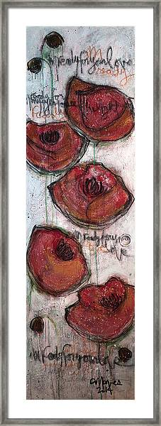 Framed Print featuring the painting Im Ready For Your Love Poppies by Laurie Maves ART