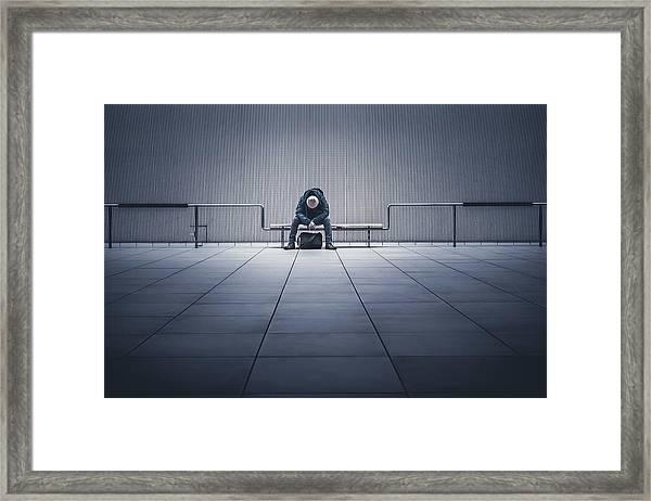 I'm Tired. Framed Print