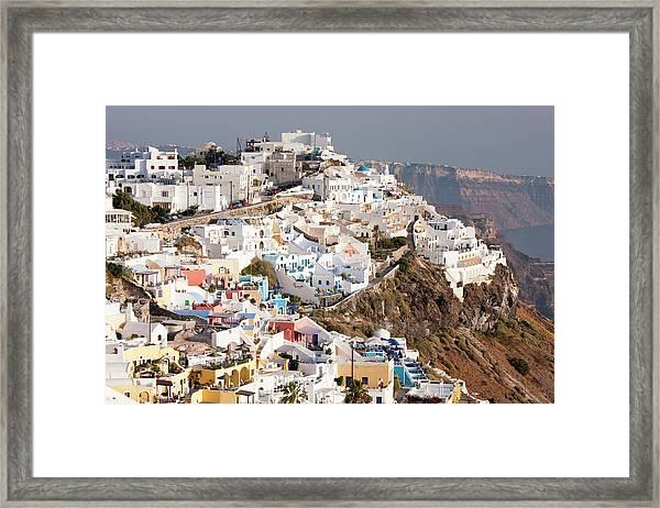 Imerovigli In Santorini, Greece Framed Print