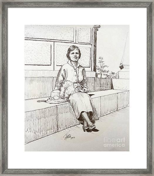 Immigrant 1920s Framed Print