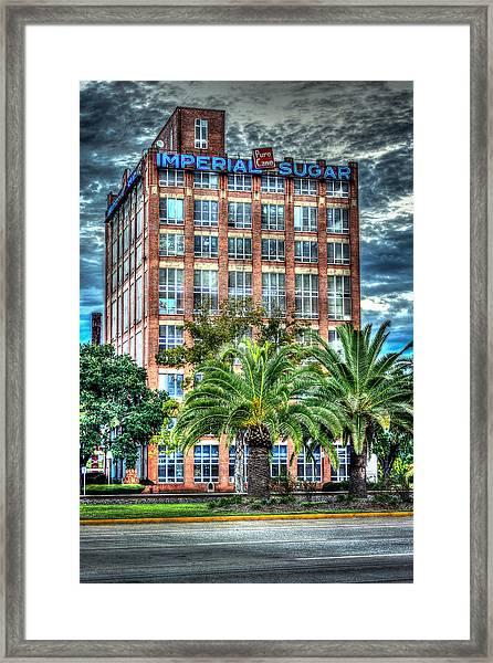 Imperial Sugar Factory Daytime Hdr Framed Print