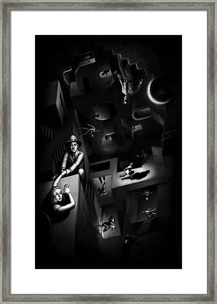 Impossible Chase Framed Print