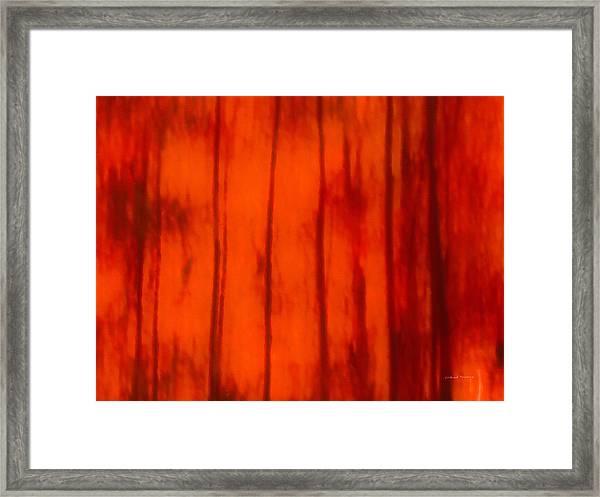 Impressionistic Autumn 4 Framed Print by Leland D Howard
