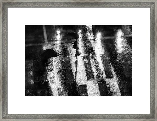 In A Hurry Framed Print by Donghee, Han