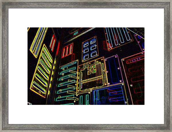In A Neon-box Framed Print
