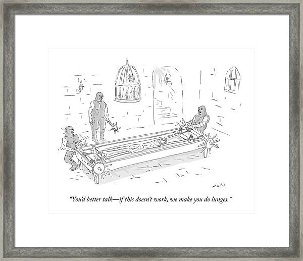 In A Torture Chamber Framed Print