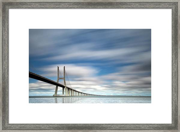 In Blue Framed Print