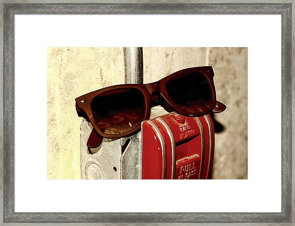 In Case Of Fire Grab Shades Framed Print