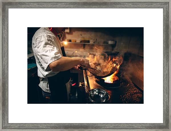 In Chinese Restaurant Framed Print by AleksandarNakic