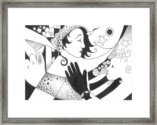 In Duality There Is No Light Without Dark Framed Print
