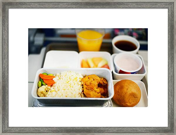 In Flight Meal - Economy Class Framed Print by Cheryl Chan