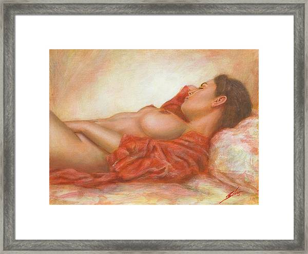 In Her Own World Framed Print