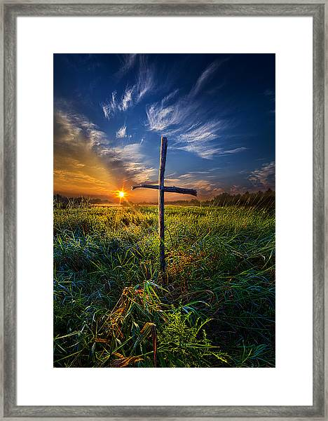 In His Glory Framed Print