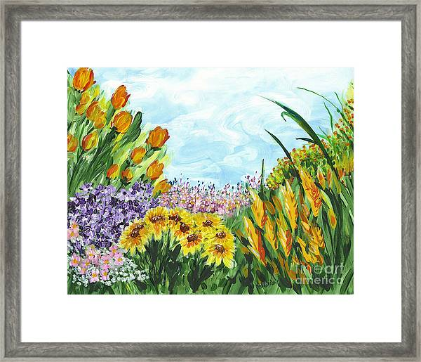 In My Garden Framed Print