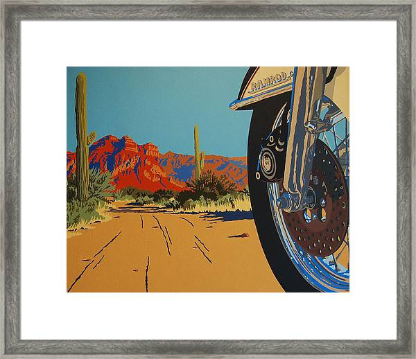In Search Of The Herd Framed Print