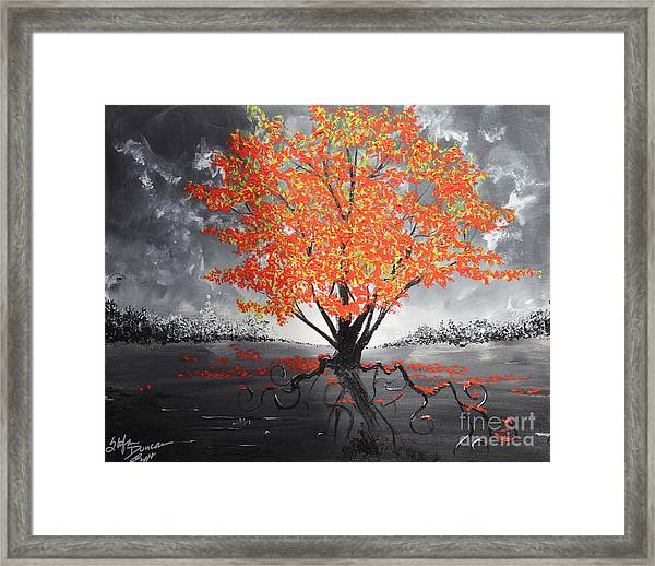 Blaze In The Twilight Framed Print