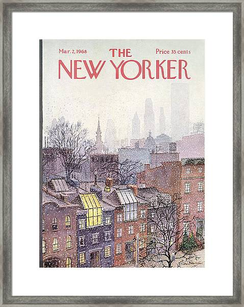 New Yorker March 2, 1968 Framed Print