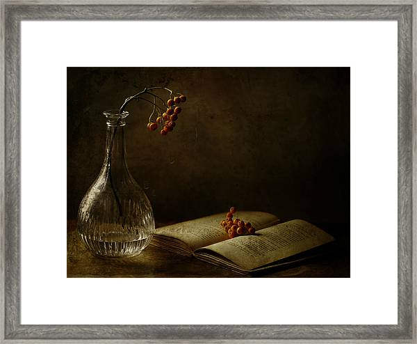 In The Dark Of My Days Framed Print by Delphine Devos