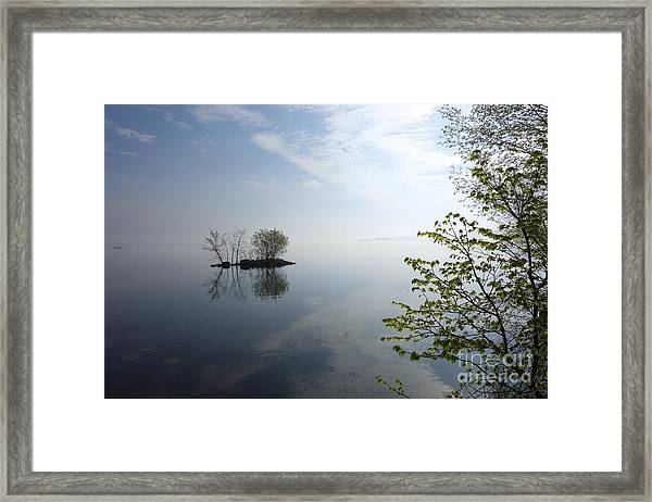In The Distance On Mille Lacs Lake In Garrison Minnesota Framed Print
