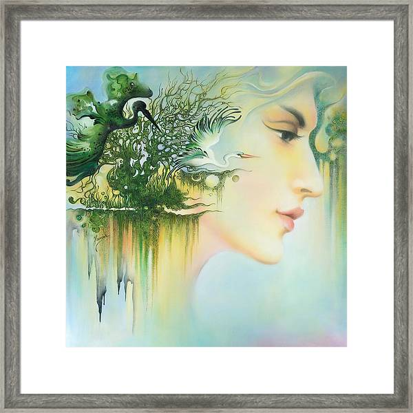In The Fluter Of Wings-in The Silence Of Thoughts Framed Print
