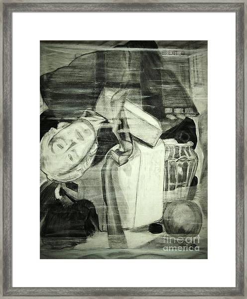 In The Glass Box Framed Print