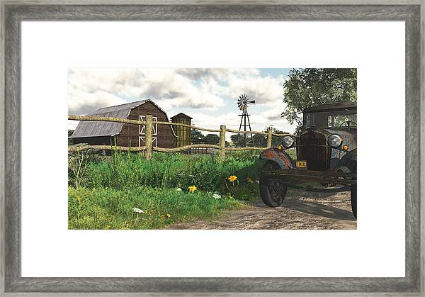 In The Heartland Framed Print