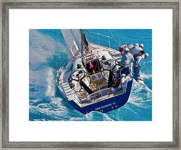 In The Lead Framed Print