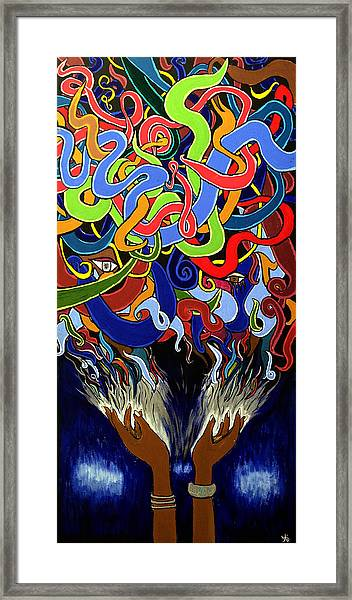In The Midst - Abstract Art Painting  - Ai P. Nilson Framed Print