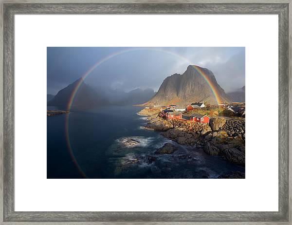 In The Rainbow Framed Print by Nicolas Schneider