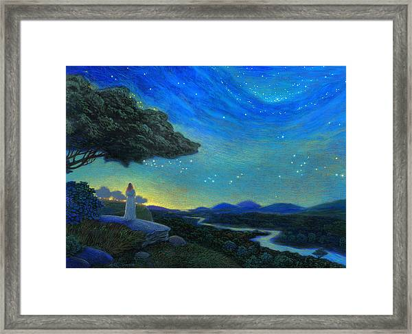 In The Silence Framed Print by Michael Z Tyree