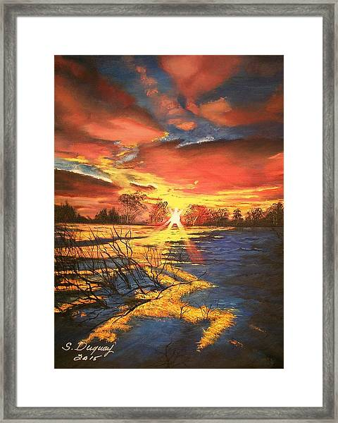 In The Still Of Dawn-2 Framed Print