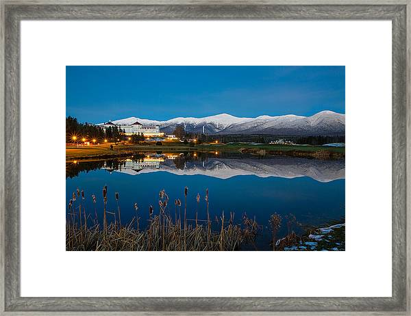 In The White Mountains Framed Print