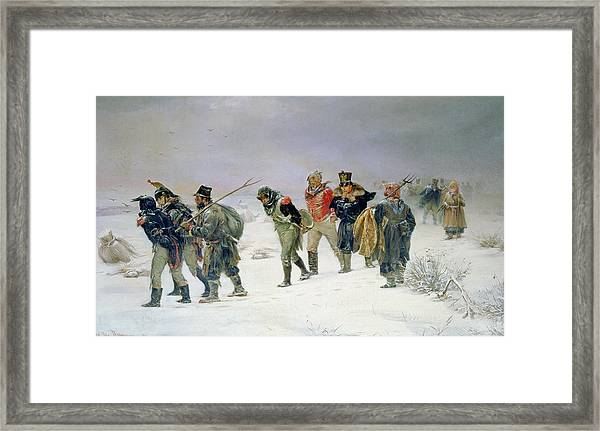 In The Year Of 1812, 1874 Oil On Canvas Framed Print