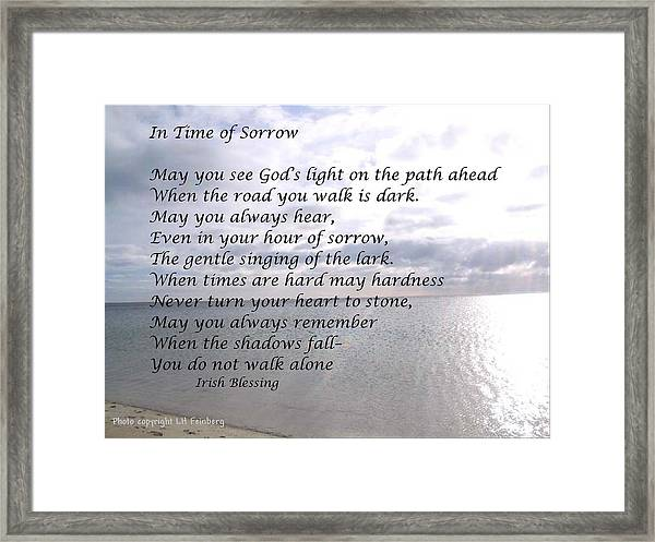 In Time Of Sorrow Framed Print