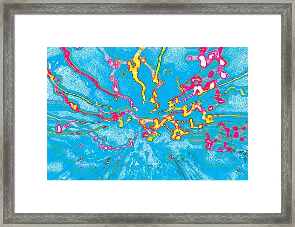 In To The Blue Framed Print