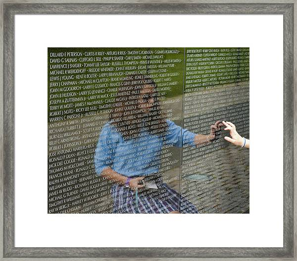 In Touch With The Past Framed Print