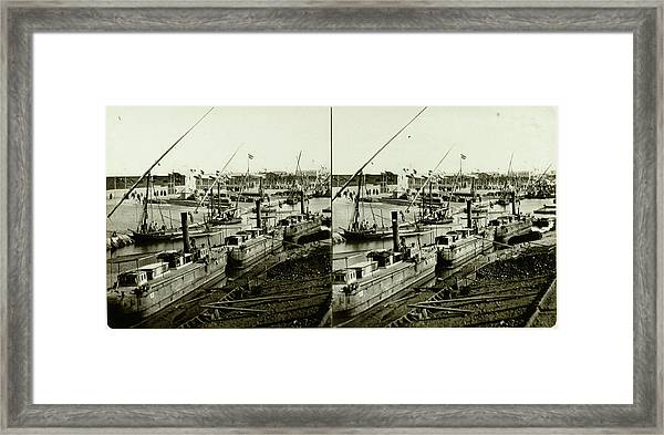 Inauguration Of The Suez Canal Ismailia, Freshwater Canal Framed Print