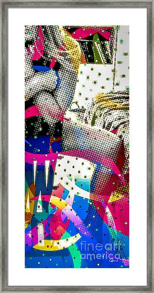 Framed Print featuring the digital art Incognito by Eleni Mac Synodinos