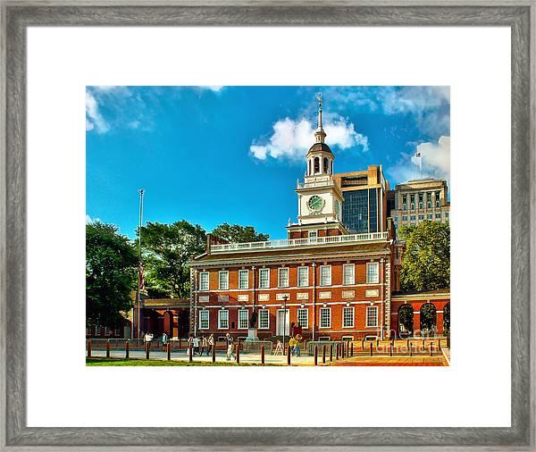Independence Hall Framed Print