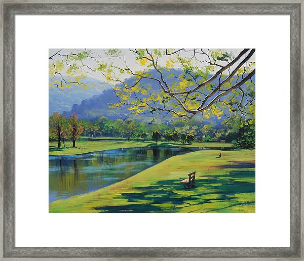 Inder The Shade Framed Print